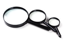 Three magnifiers Stock Photo