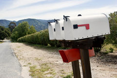 Three Mailboxes Stock Photography
