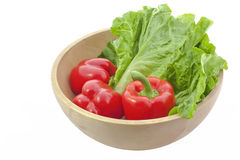 Three make pimento and green vegetable red Royalty Free Stock Photos