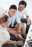 Three male generations Stock Photography