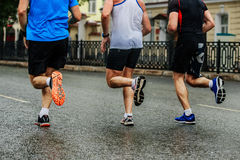Three male runners Stock Photography