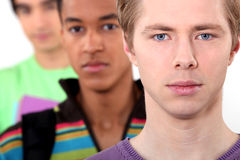 Three male students Royalty Free Stock Photography