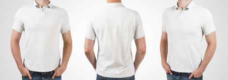 Three man in t-shirt stock images