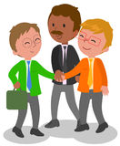 Businessmen shaking hands vector Royalty Free Stock Photography