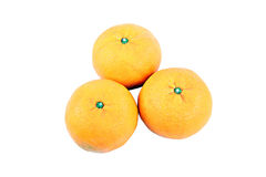 Three Mandarin Orange. Stock Photos