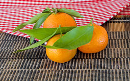 Three mandarin Stock Photo