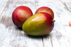 Three mangoes Stock Photography