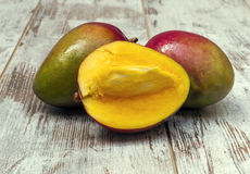 Three Mangoes Royalty Free Stock Photography