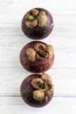 Three Mangosteen Stock Photos