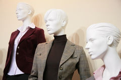 Three Mannequins In Jackets Stock Photo