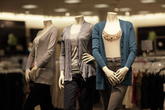 Three mannequins at the mall Royalty Free Stock Photography