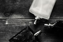Three mans Perfume bottle Stock Photography