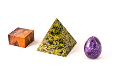 Three marble primitives Stock Photos