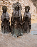 Three Marias Sculpture in Elche, Spain Stock Image