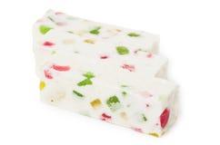 Three marshmallow sticks Royalty Free Stock Images
