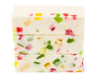 Three marshmallow sticks Stock Photography