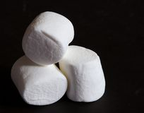 Three Marshmallows royalty free stock image