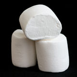 Three marshmallows stacked and isolated Royalty Free Stock Image