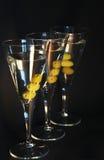 Three martini cocktails Stock Images