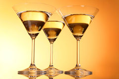 Three martini glasses Stock Image