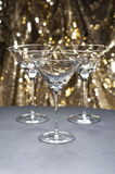 Three Martini glasses Stock Photo