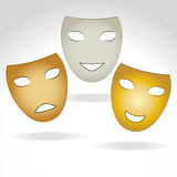 Three masks Royalty Free Stock Photos