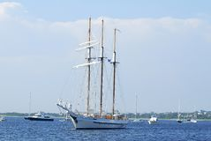 Three Mast Schooner Stock Photography