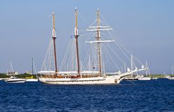 Three Mast Schooner Royalty Free Stock Photography