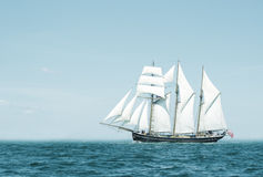 Three mast schooner Royalty Free Stock Photo