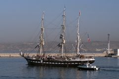 Three masted barque Belem 1896 Royalty Free Stock Photo
