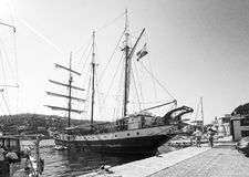 Three masted brigg Atlantis Royalty Free Stock Photo