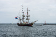 Three-masted Dutch clipper Stad Amsterdam (City of Amsterdam) Royalty Free Stock Photo