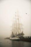 Three-masted Kruzenshtern sailboat Royalty Free Stock Photo