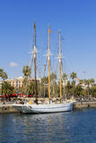 Three-masted sailboat Stock Image