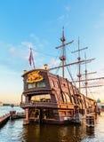 Three-masted sailing ship Flying Dutchman Stock Image