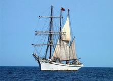 Three masted schooner Royalty Free Stock Photos