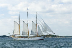 Three-masted schooner Najaden Stock Photos
