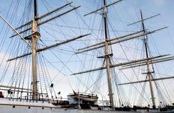 Three-masted Yacht Royalty Free Stock Photo