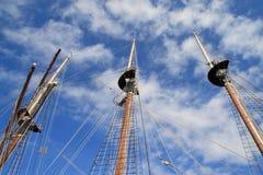 Three masts stock photo
