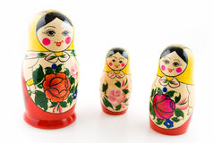 Three matryoshka dolls Stock Images