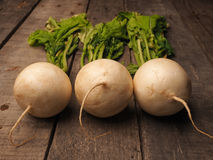 Three may turnip on wood Royalty Free Stock Photography