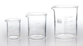 Three measurement glassess Stock Photo