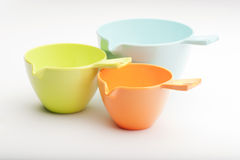 Three Measuring Cups Stock Photo