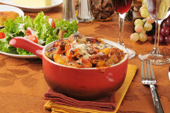 Three meat marinara bake Royalty Free Stock Image
