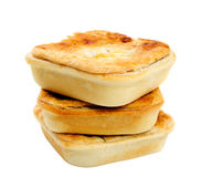 Three Meat Pies Stock Photo