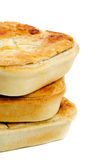 Three Meat Pies Royalty Free Stock Images