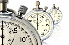 Three mechanical stopwatch Royalty Free Stock Image