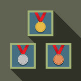 Three Medal In Picture Frame Royalty Free Stock Images