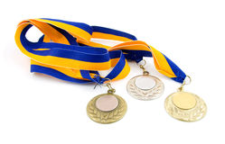 Three medals Royalty Free Stock Photos