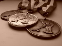 Three Medals Stock Photo